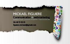 Com In Box | Com In Box - Conseil et stratégies en marketing, communication et webmarketing' carte de visite réalisée pour mickael figuiere