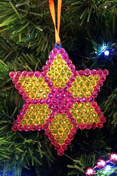FREE patterns for fusible bead Christmas decorations