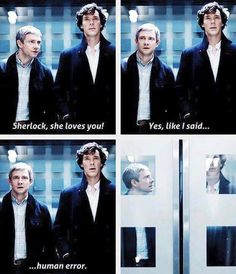 Sherlock about Janine-- John's face in the last one! I personally adore Janine. She is smart and beautiful.