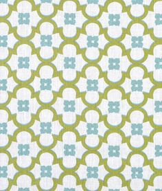 Riviera Kiwi/Turquoise on Ivory Fabric - $29.75 | onlinefabricstore.net