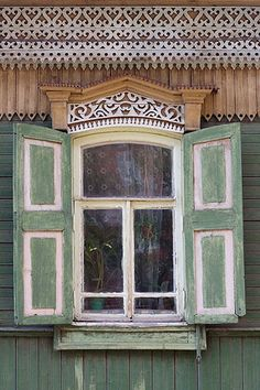 Russia, Ufa, Bashkiria an old typical wooden house, there are not so much left