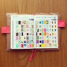 マステ図鑑♡時間割りのページを使用