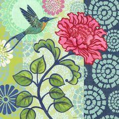 Jardin Bleu Blue Bird by Jennifer Brinley | Ruth Levison Design