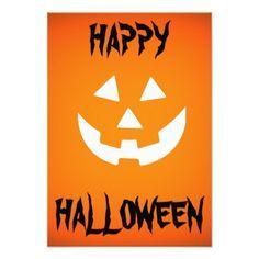 HAPPY HALLOWEEN Invitation Card - Halloween happyhalloween festival party holiday