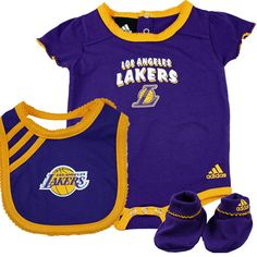 Lakers Baby Girl 3pc Outfit Girl Outfits Baby Girl Clothes Lakers Girls
