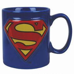 Mug Superman 2D // le super mug version comics avec symbole Superman en 2 D !