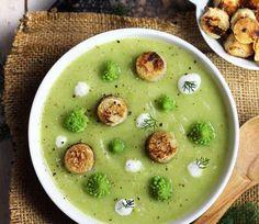 Cheeseburger Chowder, Hummus, Soup, Vegan, Broccolo Romanesco, Breakfast, Ethnic Recipes, Drink, Instagram