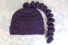Alli Crafts: Free Pattern: Curly Sprig Hat - Newborn. But bigger and covered with lots of curly locks for me