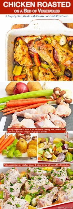 Chicken Roasted on a Bed of Vegetables – The Perfect One-Pot Meal !