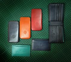 Dominique Saint Paul - hand coloured leather goods