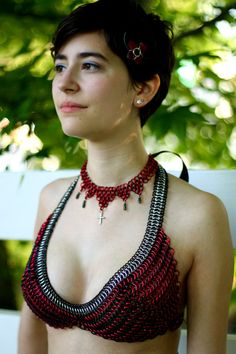 9a1f5a3ca4 Chainmail Bikini Top - Swim Safe and Custom Fit in Your Choice of Shiny  Colors
