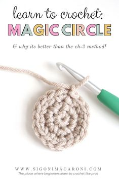 magic circle Let's face it. The magic circle is one of the most frustrating techniques to learn. But boy, is it a necessary skill! What if I told you I could show you how to crochet the m Magic Loop Crochet, Crochet Chain, Crochet Round, Double Crochet, Easy Crochet, Crochet Stitches, Crochet Patterns, Crochet Circle Pattern, Crochet Geek