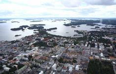 Sight over city center of Kuopio, via Flickr.