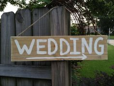 Rustic Cedar Wood Wedding Sign Hanger by SassySouthernCharm, $5.00