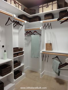 Custom built in shelves for the closet!