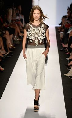 BCBGMAXAZRIA - Get the look with our Victory Vintage Top: http://shopfleurteebee.com/shop/tops/victory-vintage-top/ #nyfw