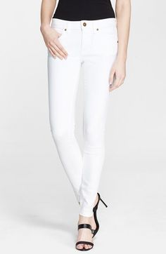 Burberry Brit Stretch Skinny Jeans (White) available at #Nordstrom