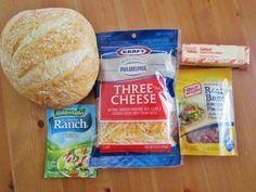 Cheesy Bacon Ranch Pull-Apart Bread - appetizer #appetizer #breads