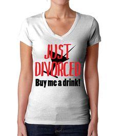 Funny Divorce Shirt Divorced Shirt Just Divorced by Umbuh