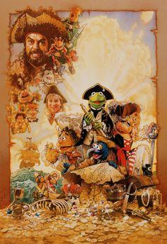 Muppet Treasure Island by Drew Struzan