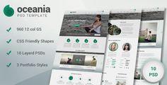 Oceania PSD Template by Jong Hwan, via Behance