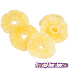 Honey Dipped Dried Pineapple Fruit Slices: 11LB Case