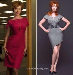 Vestidos pin-up: fotos modelos - Christina Hendricks moda Mad Men                                                                                                                                                     Más