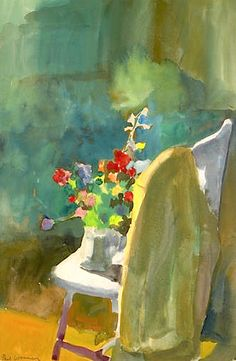 Paul Wonner (American, 1920-2008) Flowers on the Chair, 1962