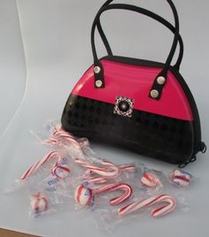 Easter Basket Alternative, Easter Basket Filler, Girls Easter Gift, Gift For Daughter, Shopaholic Gift, Pink and Black Purse Tin Filled with Seasonal Peppermint Candy - http://bestchocolateshop.com/easter-basket-alternative-easter-basket-filler-girls-easter-gift-gift-for-daughter-shopaholic-gift-pink-and-black-purse-tin-filled-with-seasonal-peppermint-candy/