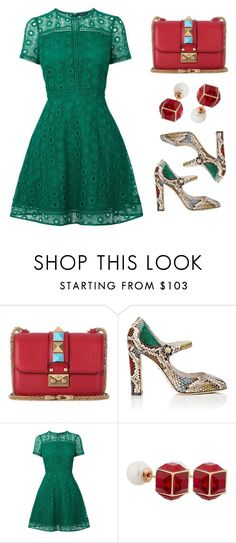 """""""Mary Janes"""" by stavrolga ❤ liked on Polyvore featuring Valentino, Dolce&Gabbana, Warehouse, Vita Fede, maryjanes, polyvoreeditorial and polyvorecontest"""