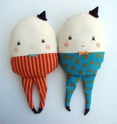 humpty dumpty. cute nursery boys ...give them arms for tweedle dee and tweedle dum plushie toys too
