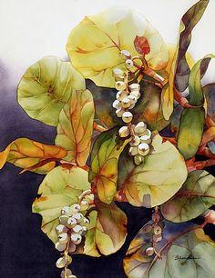 A Sea of Grapes #2 by Barbara Groenteman Watercolor ~  x
