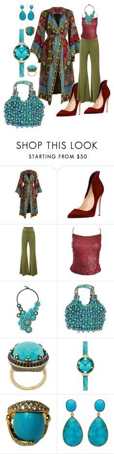 """""""Sin título #616"""" by abaloriosestilos ❤ liked on Polyvore featuring Etro, Galvan, Liancarlo, NOVICA, Chloé, Iosselliani, RumbaTime and Carousel Jewels"""