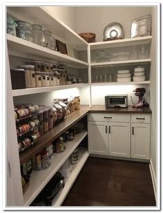 Pantry Laundry Room, Walk In Pantry, Walkin Pantry Ideas, Pantry Closet, Pantry Shelving, Shelving Ideas, Kitchen Shelves, Pantry Cabinets, Storage Ideas