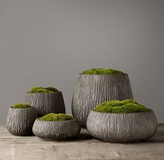 Carved Concrete Vessel Collection