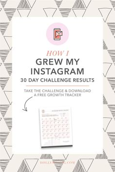 So, you're here to see how I grew my Instagram in 30 days, right? That's correct, 30 days ago I set myself up to try and improve my Instagram by posting a challenge that I welcomed you to join as well. http://hollymccaig.com/how-i-grew-my-instagram-in-30-days-results/