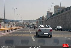 gooya news :: didaniha : پرایدی متفاوت در تهران! (تصویر)