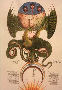 Alchemy Dragon by by George Ripley, 15th century.