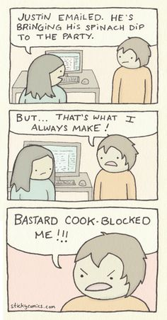 Here is a new sticky comic about food :)