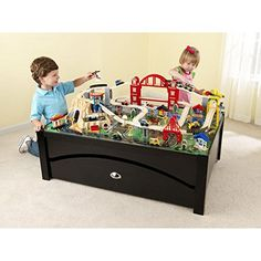KidKraft Metropolis Train Table and Set Large Rolling Trundle for Convenient Storage ** Check this awesome product by going to the link at the image.