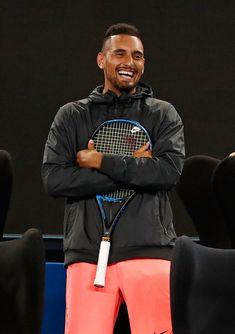 """""""Nick Kyrgios at Tie Break Tens """" Tennis Wallpaper, Tie Break, Tennis Pictures, Tennis Legends, Rafael Nadal, Got The Look, Room Posters, Serena Williams, Roger Federer"""