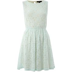 Therapy All over lace sleeveless dress (£16) ❤ liked on Polyvore featuring dresses, vestidos, robes, short dresses, women, sleeveless cocktail dress, sleeveless lace dress, lace mini dress, short green dress and sleeveless dress