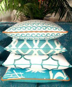 - Palm Beach \/ Caribbean Waters - Coastal Pillows   Beach Pillows