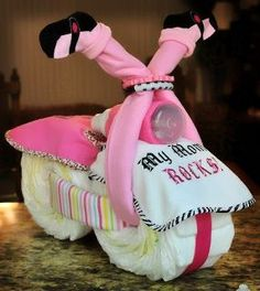 Baby shower diaper bike / bicycle