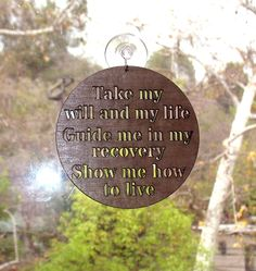NA Narcotic Anonymous 3rd Step Prayer Window by SerenityIsForever, $14.00