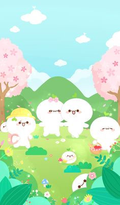微博 Kawaii Wallpaper, Cute Wallpaper Backgrounds, Iphone Wallpaper, Beautiful Wallpapers For Iphone, Cute Cartoon Wallpapers, Kawaii Drawings, Cute Drawings, Random Drawings, Cute Couple Cartoon