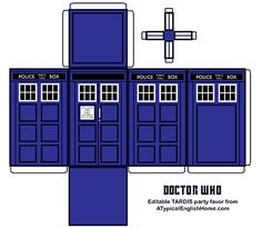 Last month I hurriedly assembled some Doctor Who printable TARDIS boxes to hold party favors for the kids at my son's birthday, (in a...