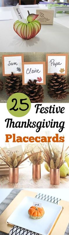 Thanksgiving, Thanksgiving placecards, holiday, fall holiday, popular pin, tablesetting, thanksgiving tablesetting