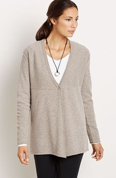 Pure Jill cashmere easy cardigan
