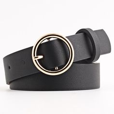 Men Women Junior Double Loop Canvas Belt Plain Students Lovers Waistband Fashion Trend Gold Buckle Navy Tactical Belt